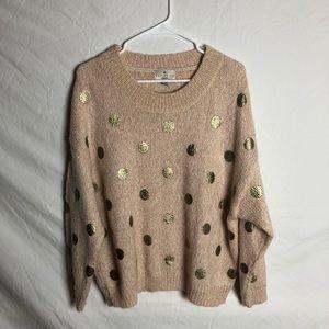 Wool polka dot sweater